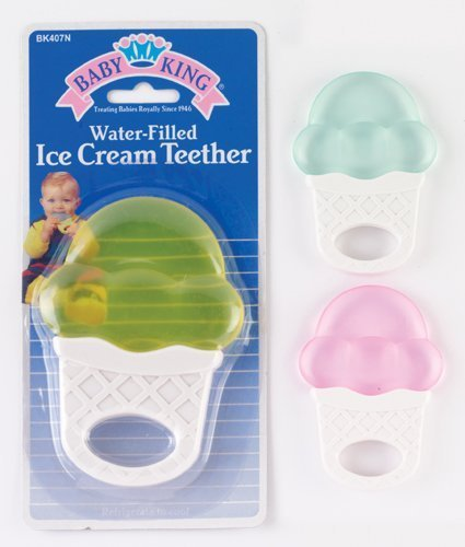 Baby King water-filled ice cream cone shaped Teether (Ice Cream Baby Cone)