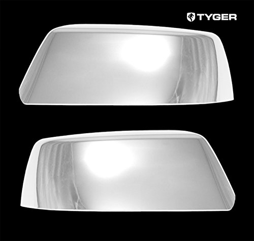 Tyger Auto TYGER ABS Triple Chrome Plated A Pair Mirror Covers Fits 2015 Cadillac Escalade/Chevy Suburban/Tahoe Top Half