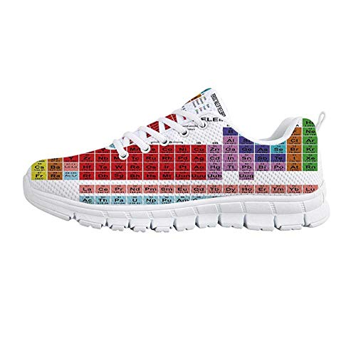 6d9df62a7f8a5 Periodic Table Comfortable Sports Shoes,Kids Children Educational Science  Chemistry for School Students Teachers Art for Men & Boys,US Size 9