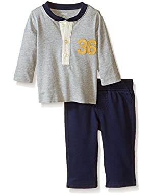 Carter's Baby Boys' 2 Piece Pant Set (Baby) - Heather