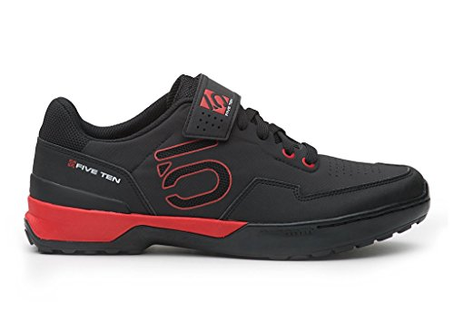 Five Ten Men's Kestrel Lace Mountain Bike Shoes (Clipless, Black/Red, 10) from Five Ten