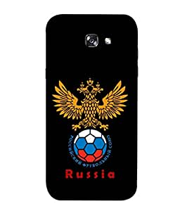 ColorKing Football Russia 25 Black shell case cover for Samsung A3 2017