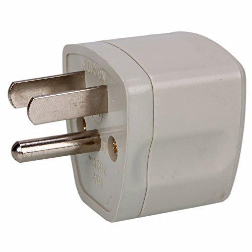 - Tekit® 2 Packs Universal Eu Au to Us Ac Power Plug Travel Adapter, 3-pin Plug 10A 250V Universal EU AU to US AC Power Plug Travel Outdoor Adapter Converter White