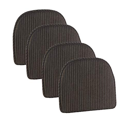 Klear Vu Nakita Striped Non-Slip Dining Kitchen Chair Pads, 15