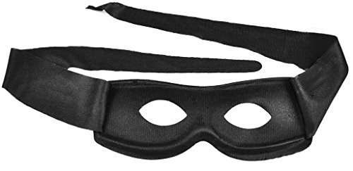 TAUT Kid's Superhero Hero Zorro Black Mardi Gras Costume Masquerade Mask