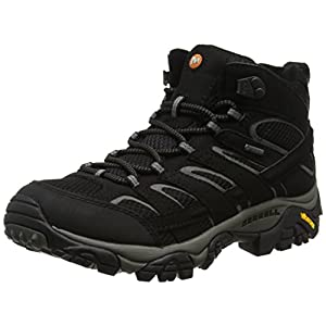Merrell Men's Moab 2 Mid GTX Walking Boots Black 10 D(M) US