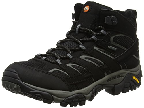 Merrell Men's Moab 2 Mid GTX Walking Boots Black 10 D(M) US