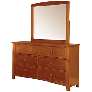furniture of america alaia oak 2 piece dresser and mirror set kitchen dining. Black Bedroom Furniture Sets. Home Design Ideas