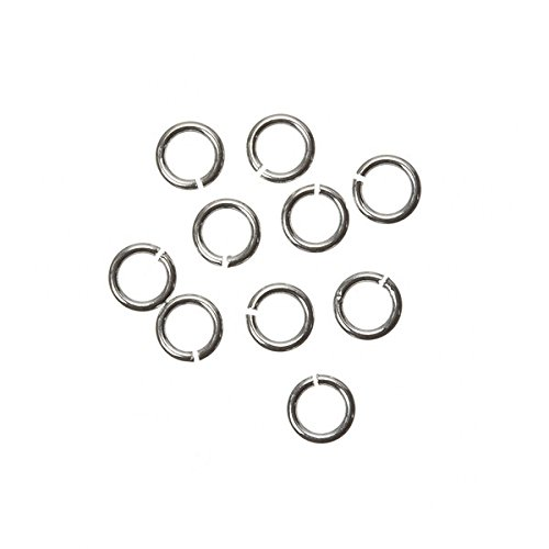 4mm Open Jump Rings 925 Sterling Silver 0.6mm Thick PK10 Beads Jar