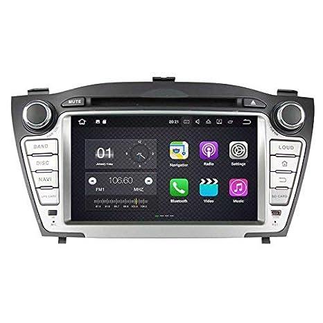 2 DIN 7 Pulgadas Coche Estéreo con GPS Navegación Android 7.1 OS para Hyundai IX35 / Tucson 2009 2010 2011 2012 2013 2014,Dab+ Radio Pantalla Táctil ...