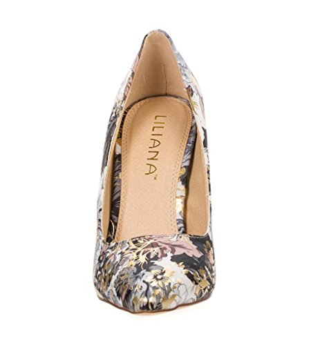 Gold Office Bridal Grey Pump Toe Casual GIANNI 1 Womens Business Pointy Single Sole 7g5RSSwq