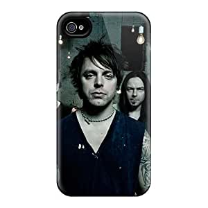 Iphone 4/4s MuD17081KRQK Provide Private Custom Realistic Metallica Pattern Scratch Protection Hard Phone Covers -AlissaDubois