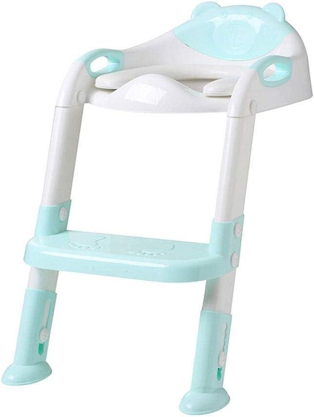 KJRJMT Asiento de entrenamiento for el baño con escalera for taburete de pasos Inodoro de entrenamiento for el baño for niños, niñas, niños pequeños Cómodo y seguro, asiento for el baño con