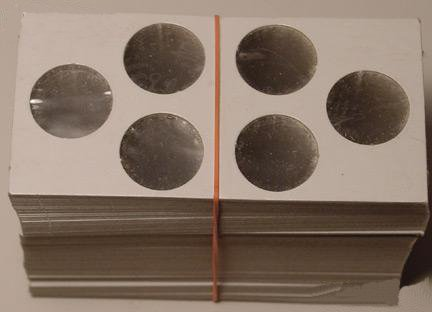 100 2×2 Cardboard Coin Holders 3-COIN SET (Cents and Dimes)