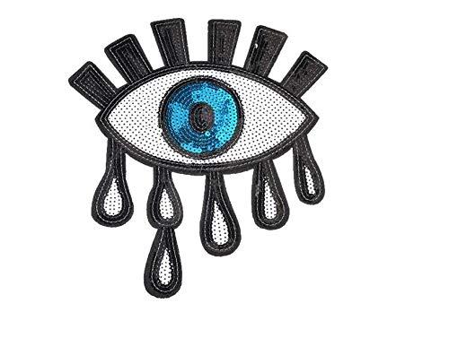 Mings Brodé Patch Patch Vêtements Dentelle Accessoires Perles Larmes Eye Eye Sequins