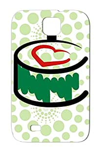 Shockproof Green Maki Love Sushi For Sumsang Galaxy S4 Sushi Japan Art Maki Cook Careers Professions Protective Hard Case