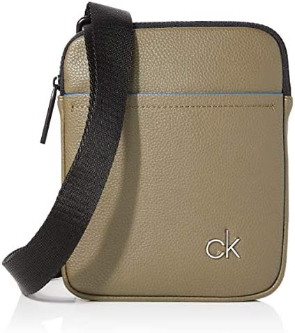 Calvin Klein Shoulder Bag Men New Messenger Leather Black Fashion Authentic
