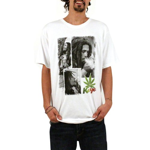 UPC 798834090648, Bob Marley Kaya Men's T Shirt, White, Small