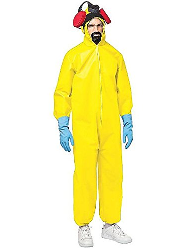 Rasta Imposta Breaking Bad Hazmat Suit, Yellow, One Size