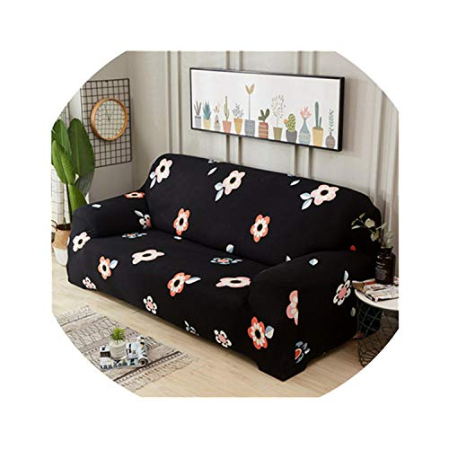 ACOMY Big Rose Elastic Sofa Cover Stretch Sectional Couch Cover Sofa Slipcovers Sofa Covers for Living Room housse canape 1/2/3/4 seat,Color 9,2-Seater 145-185cm