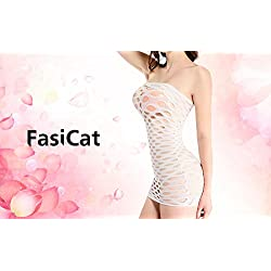 FasiCat Womens Strapless Mesh Chemise Mini Dress for Sex