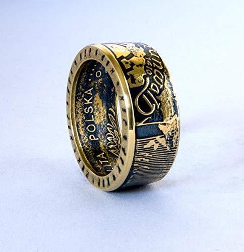 Ritter Im Kampf Münze Ring Handgemachte Siegel Schmuck Promise