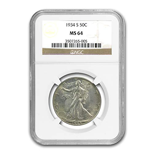 1934 S Walking Liberty Half Dollar MS-64 NGC Half Dollar MS-64 NGC