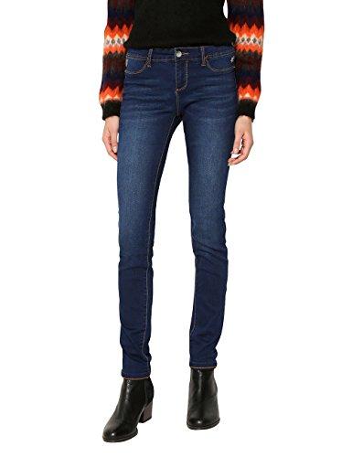 5161 Desigual Skinny Medium Denim second Dark Jeans Donna Blu Skin Denim qvZ6wSrv