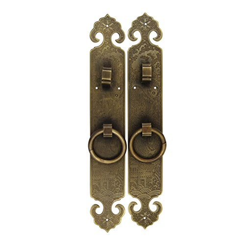 - Knocker,Chinese handle Ming and qing dynasty antique knocker Classical copper handle Door handle outdoor Stylized sash handle Furniture handles-A