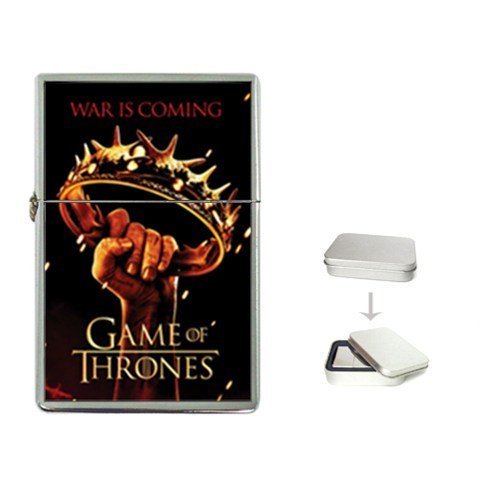 New Product GAME OF THRONES Flip Top Cigarette Lighter + free Case Box