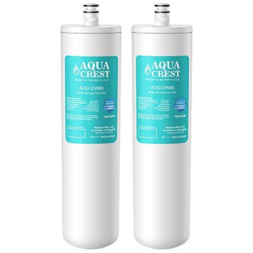 AQUACREST DW80/90 Under Sink Water Filter, Compatible with Aqua-Pure AP-DW80/90, Kohler K-201-NA, Kohler K-202-NA (Pack of ()