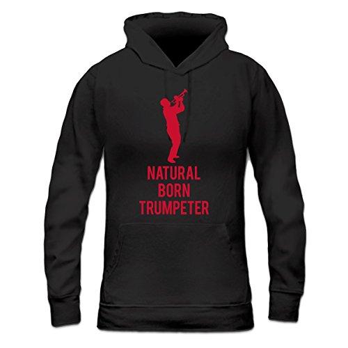 Sudadera con capucha de mujer Natural Born Trumpeter by Shirtcity Negro