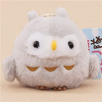 Cute Grey Owl Plush Toy From Japan Amazon Co Uk Toys Games