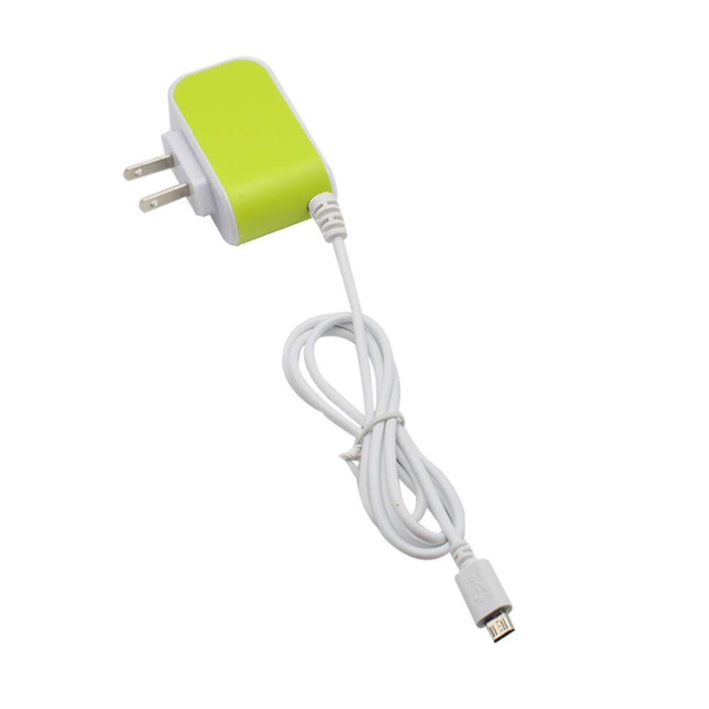 Polwer Wall Chargers, 3.1A Triple USB Port Wall Home Travel AC Charger Adapter for Samsung US Plug (Green)