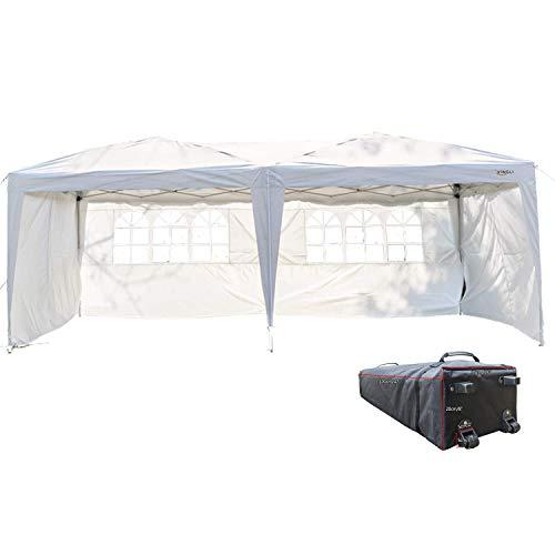 VINGLI 10' x 20' Ez Pop Up Canopy Tent w/ 4 Removable Sidewa