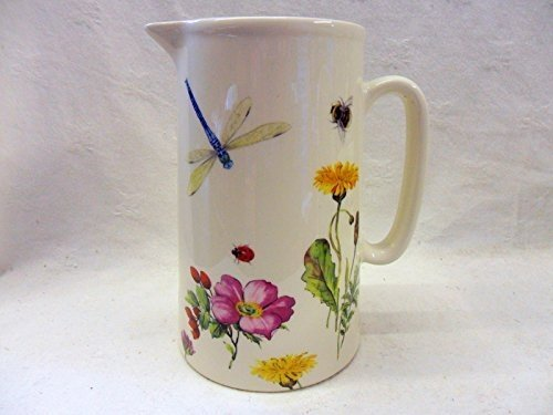 Dragonfly meadow design 2 pint jug by Heron Cross Pottery