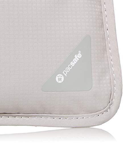 41jJ%2B4RxwaL - Pacsafe Coversafe X75 Anti-Theft RFID Blocking Neck Pouch, Neutral Grey