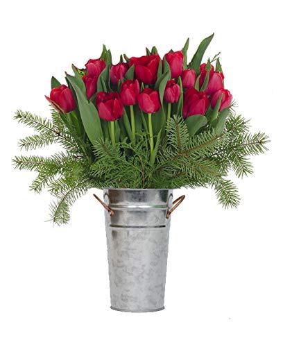 Stargazer Barn - Petite Jingle Bell Bouquet With Vase - Farm Direct