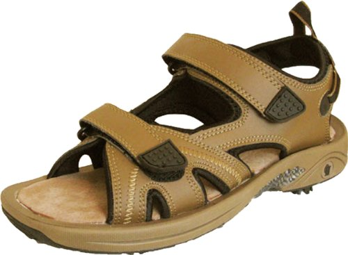 Thrifty Golf Supply Men's Camel Golf Sandal - Oregon Mudders - 8 (Golf Shoe Camel)