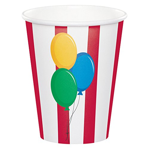 Ounce 9 Cups Circus (Creative Converting Circus Time - Party Ware - Separates 9 oz Cups)