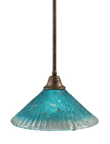 Teal Blue Pendant Light in Florida - 1