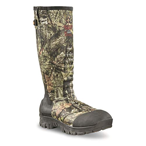 Guide Gear Men's Side Zip Ankle Fit Insulated Rubber Boots, 2,000-gram, Mossy Oak Break-Up Country, 11D (Medium)