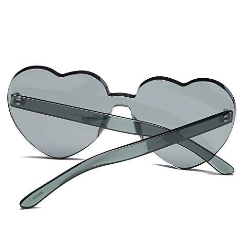 de Estilo Black Grey Corazón de and Sol Sol Mujer Gafas de Fansport con con de Protección para Sol UV Gafas Gafas qWfw5nRzU