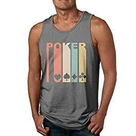 Abigails Home 1970's Style Playing Card Men's Tank Top Sleeveless Shirts Tee Basketball Sports T Shirt Tees Outdoor Fitness