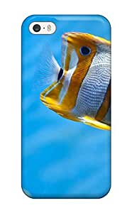 Excellent Iphone 5/5s Case Tpu Cover Back Skin Protector Copperband Butterfly Fish