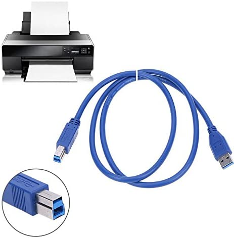 Cables 1m//3.3ft USB 3.0 Type-A to Male to Male Adapter Cable Data Transfer Cord for PC Printer Scanner Cable Length: 1m, Color: Blue