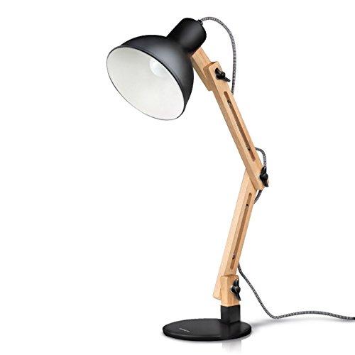 Tomons Swing Arm LED Desk Lamp, Wood Designer Table Lamp, Reading Lights for Living Room, Bedroom, Study, Office,...