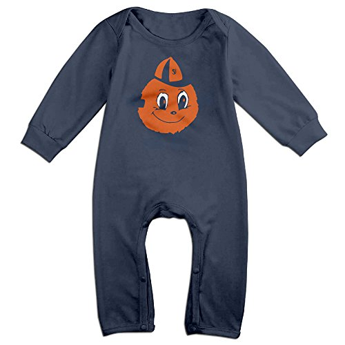 Price comparison product image OOKOO Baby's Syracuse University Otto Orange Bodysuits Outfits Navy 24 Months