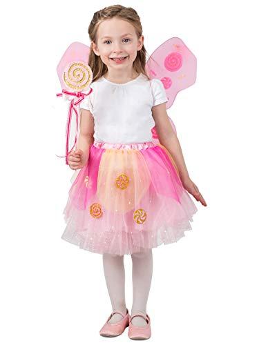 Princess Paradise Lollipop Fairy Skirt Set Costume, -