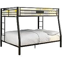 Limbra Full over Queen Metal Bunk Bed in Black